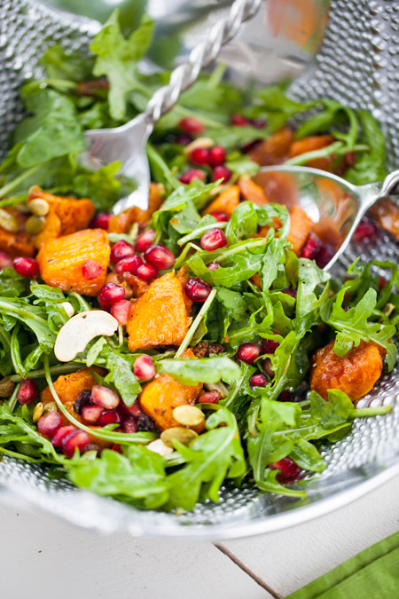 salad, healthy, butternut squash, fall, thanksgiving recipe