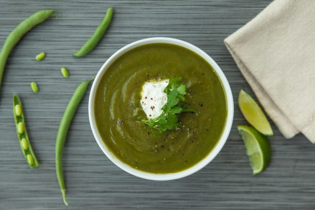 green soup, soup, bone broth