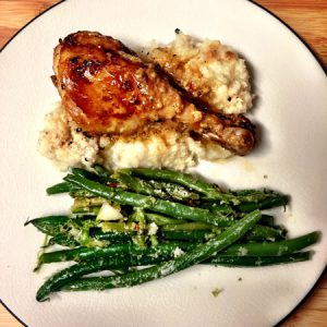 roasted chicken, lunch, dinner, comfort food, cauliflower mash, gluten free