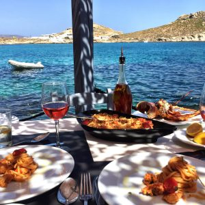 Greece, Mykonos, travel, greek islands, lunch, beach, lunch guide, sunset