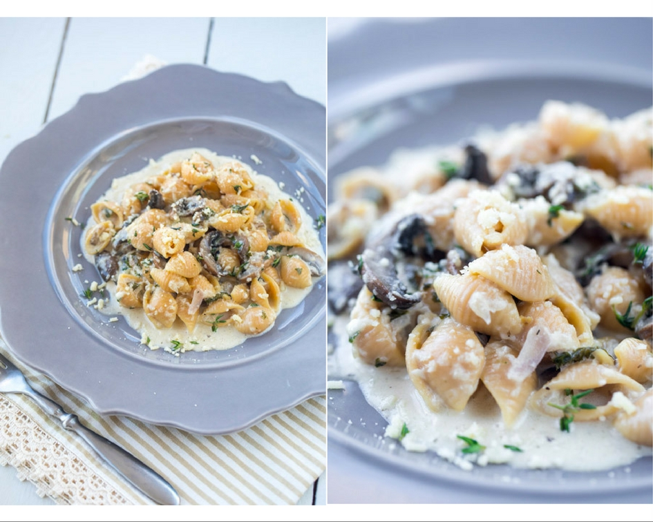 Mushroom Pasta with Creamy Truffle Sauce - Healthy with ...
