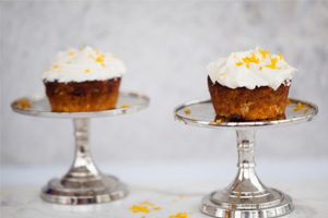 cupcakes, carrot cake, dessert, healthy dessert