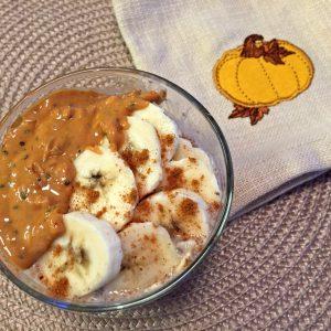 almond butter, chia, oatmeal, oats, porridge, gluten free, breakfast, fall