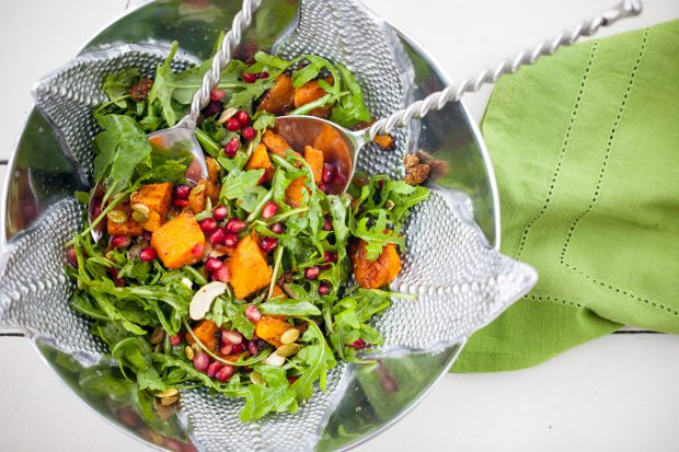 salad, healthy, butternut squash, fall, thanksgiving recipe