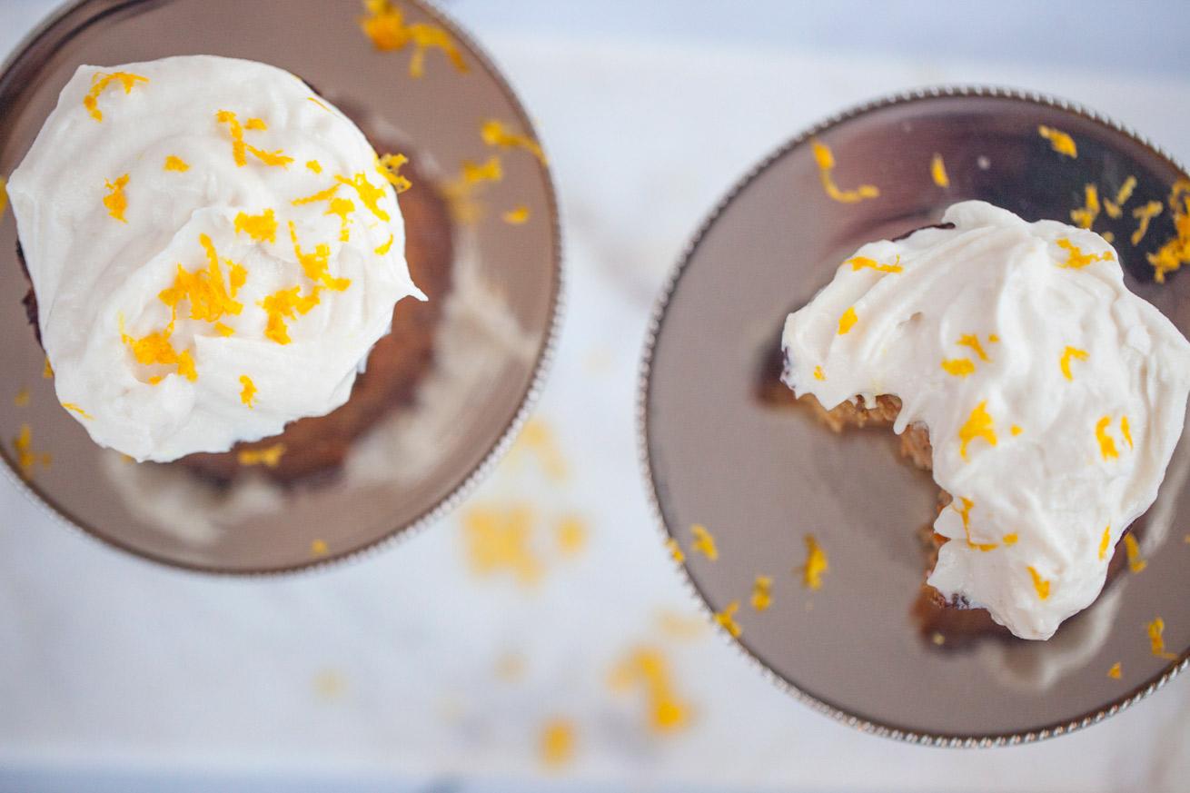 sweet, dessert, carrot cupcakes, creamy, frosting, healthy, apple, vegetarian, gluten free