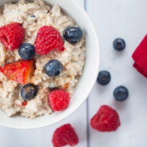 muesli, berries, oatmeal, breakfast, milk, honey, comfort, gluten free, dairy free, healthy, fiber