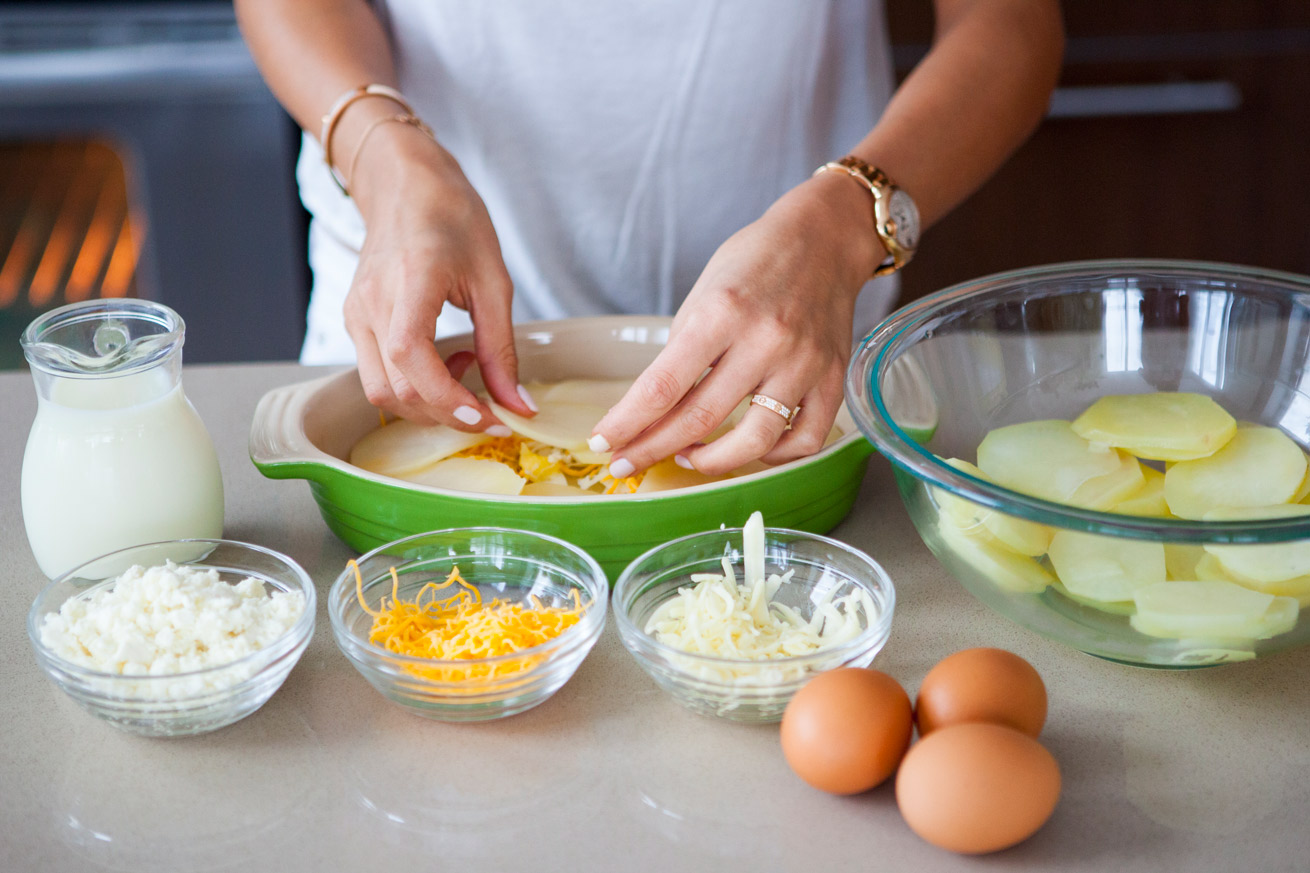 potato gratin, gluten free, side dish, carbs, healthy, cheese, cheat day, vegetarian, eggs