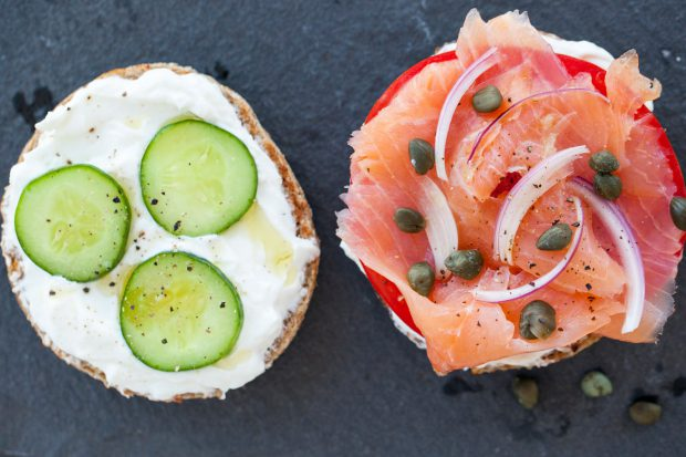 BAGEL, LOX, SMOKED SALMON, BREAKFAST, BRUNCH, HEALTHY, GLUTEN FREE