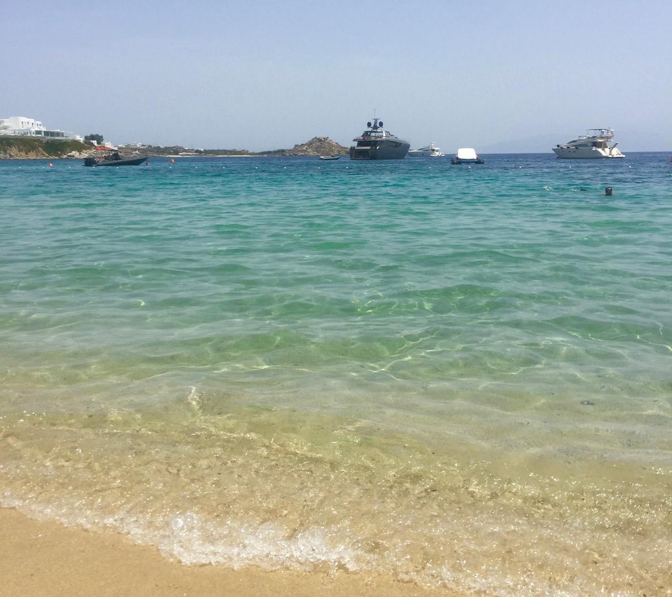 Greece, Mykonos, travel, greek islands, lunch, beach, lunch guide, sunset