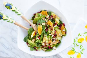 summer, salad, fourth of july, gluten free, salad with oranges