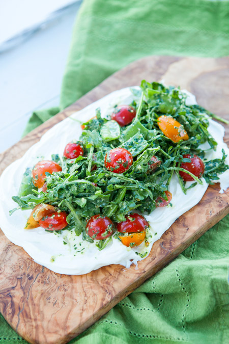 ricotta, cherry tomatoes, pesto, salad, gluten free, vegetarian, healthy