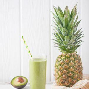 smoothie, drink, refreshing, pineapple, avocado, vegan, gluten free, paleo, healthy