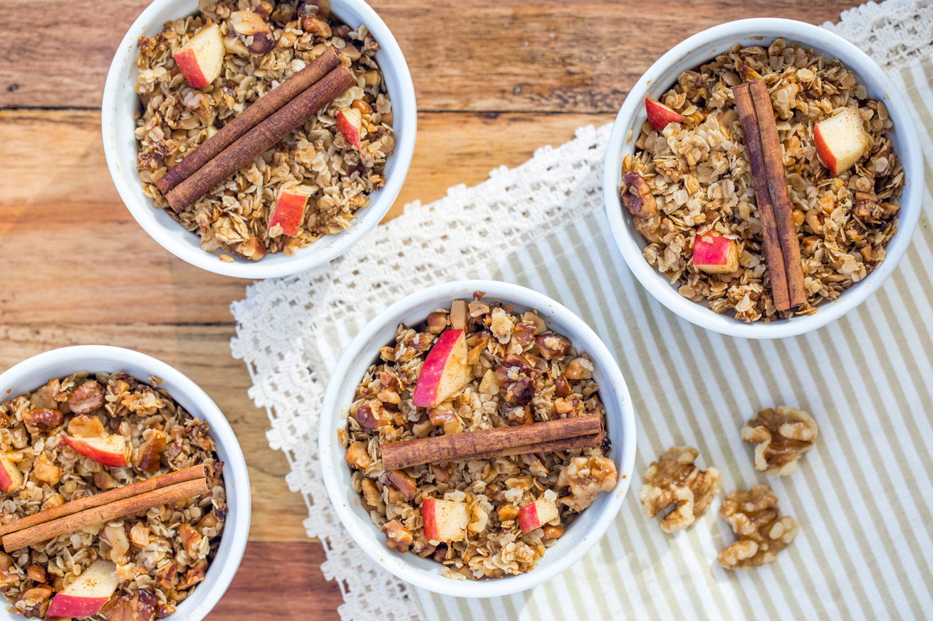 how to make healthy apple crumble