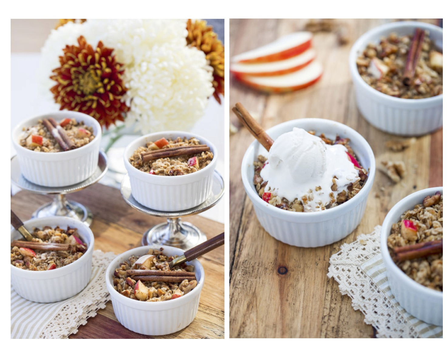apple crumble, healthy apple crumble, gluten free, dessert, healthy dessert
