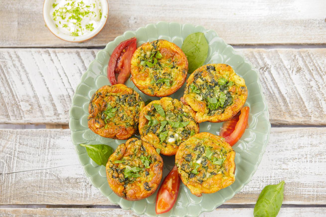 Grain-Free Spinach Muffins