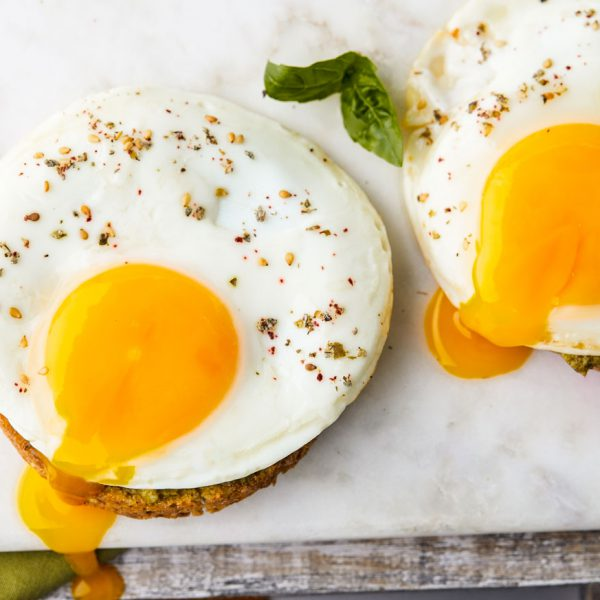english muffin, pesto, egg, eggs, low carb, mikeys