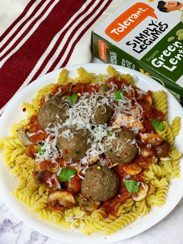 meatball pasta, tolerant, gluten free