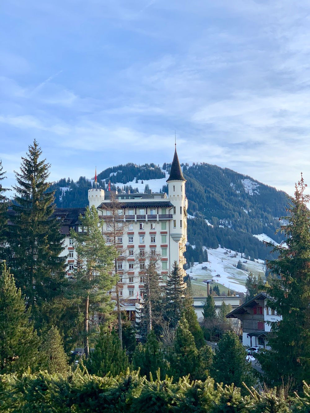 palace, hotel, gstaad, swiss, mountains