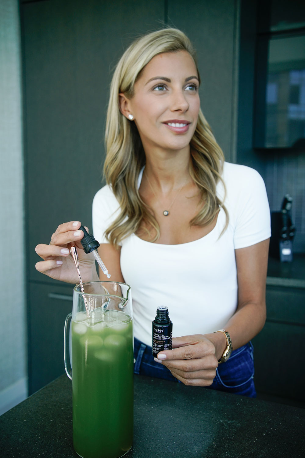 nedi, cbd, breakfast, green juice, health