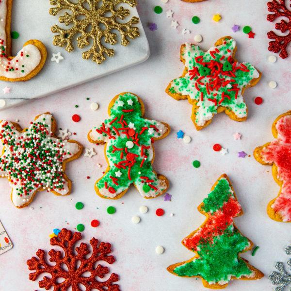 cookies, christmas, xmas, sugar free, dairy free, santa, holidays