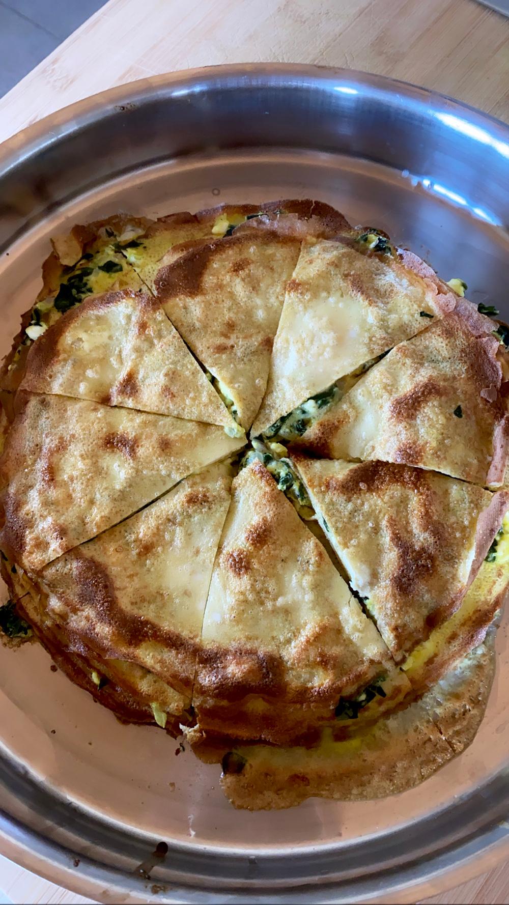 spanakopita, crepe, gluten free, low carb, spinach pie, crepini