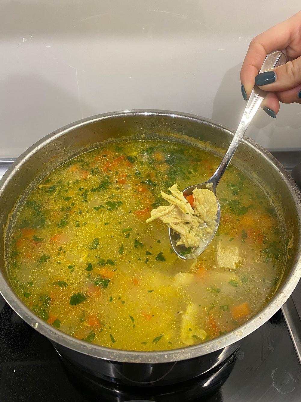 chicken, lemon, soup, grandma, orzo, greek