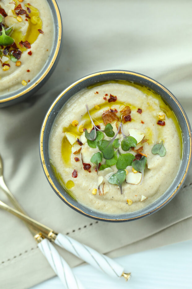 cauliflower, soup, low carb, vegan